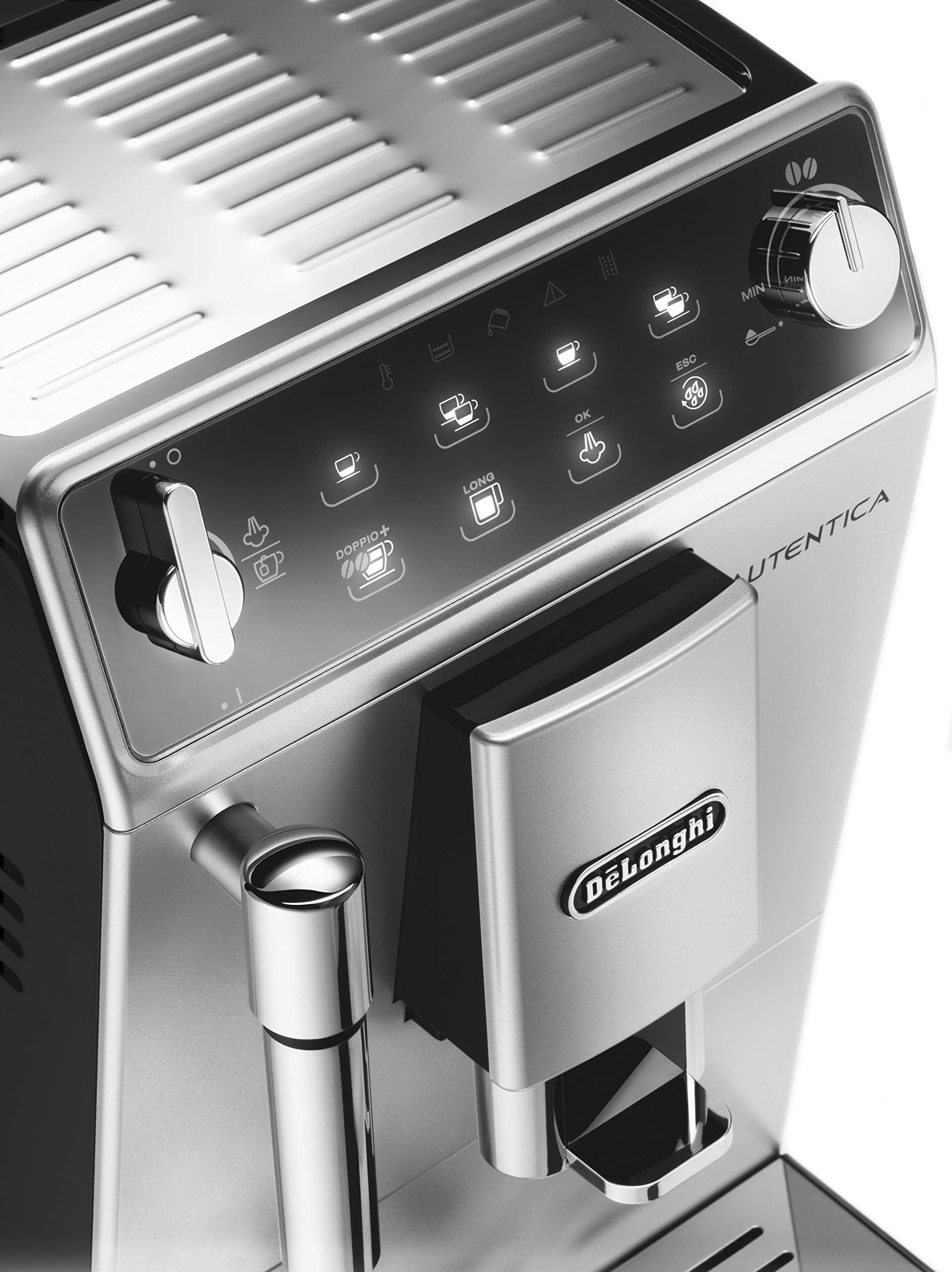 816uz6C1QjL - De'Longhi Autentica Cappuccino, Fully Automatic Bean to Cup Coffee Machine, Espresso Maker, ETAM29.660.SB, Silver and…
