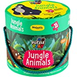 THE BOOK TREE Puzzle Play 35 Piece Big Size Jungle Animals Puzzle Set with 1 Story Board Book for Children