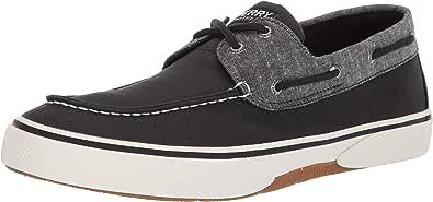 Halyard 2 Eye Boat Shoe - Scarpe da uomo in tela, colore: Navy/Honey