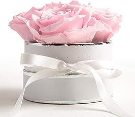 ROSEMARIE SCHULZ Heidelberg Rosenbox weiß rund Infinity Rose - Flowerbox konservierte Rose