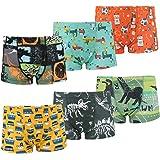 FLYISH DIRECT Coton Boxer Garçon Lot de 6 Enfant Slip Garcon Dinosaure Culotte sous-Vêtement 3-11 Ans