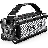 W-KING 50 W (70 W top) Bluetooth-luidspreker, IPX6 waterdicht, 24 uur looptijd, 8000 mAh powerbank, 30 meter bereik, draagbar