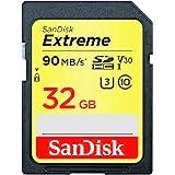 SanDisk Extreme 32 GB SDHC minneskort upp till 90 MB/s, svart