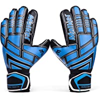 Malker Goalie Gloves Goalkeeper Gloves with Fingersave and Double Wrist Protection, Strong Grip Goalkeeper Gloves for…