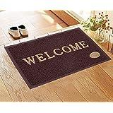 Shankara PVC Welcome Door Mat for Home Entrance Outdoor Mat Anti Slip (Brown, Size : 38 x 58 cm)