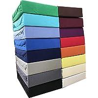 Leonado Vicent - Classic Spannbettlaken Bettlaken 100% Baumwolle Jersey Spannbetttuch in vielen Farben & Größen…
