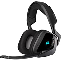 Corsair VOID ELITE Wireless Cuffie Gaming con Microfono, Audio 7.1 , Wireless 2.4 GHz a Bassa Latenza, 12 metri di…