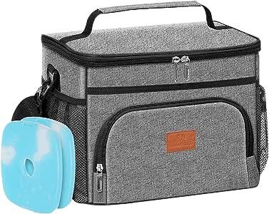 Blau JANSBEN 18L K/ühltasche mit 2 K/ühlakku Thermotasch Picknicktasche Isoliertasche Lunchtasche K/ühlbox Mittagessen f/ür Lebensmitteltransport Outdoor Reisen Camping