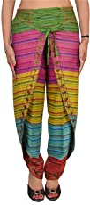 Skirts & Scarves Women's SnS Pure Cotton Aladdin Harem Dhoti Pant (PA-1738, Multicolour, Free Size)