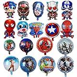 KRUCE 18 PC Globos de Papel de Fiesta de cumpleaños de superhéroes, Globos de Papel de superhéroe para Regalos de niños Sumin
