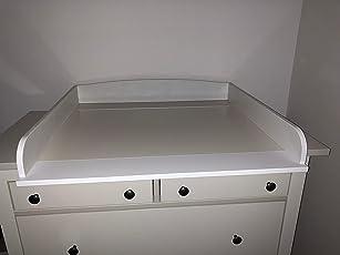 Wickelaufsatz für IKEA Kommoden, passend für Malm, Hemnes, Expedit, Kallax, Brimnes, Nordli, Tarva, Koppang, Kommoden mit einer Breite von 30-51 cm Holz weiß