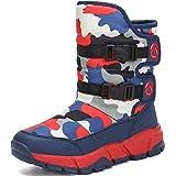 katliu Botas de Nieve para Unisex-niños Zapatos Invierno Forrados de Piel Botas Niñas Impermeables Calientes y Antideslizante