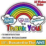 MCR Prints X2 A5 NHS Stickers Rainbow waterproof vinyl signs window car taxi van shop