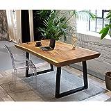 Table de Bureau en Bois Massif - Table en Bois Massif - Table en Bois précieux (Tisch Samson-3)
