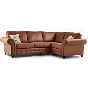 Genial The Sofa U0026 Bed Factory New High Quality Oakridge Large Leather Corner Sofa    Tan (Right Hand Facing)