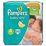 Pañales Pampers Baby-Dry de la talla 4, 8-16 kg, 30