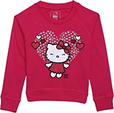 Hello Kitty Kids Girls Virtual Pink Color Sweatshirt