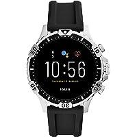 Fossil Gen 5 (46mm, black) Garrett Silicone Touchscreen Men's Smartwatch with Speaker, Heart Rate, GPS, Music storage…