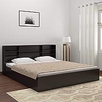 DeckUp Dusun King Bed (Dark Wenge, Matte Finish)