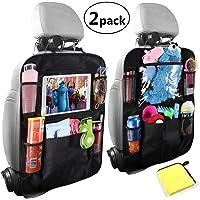 Car Organisers,Car Back Seat Organiser,Car Tablet Holder,Waterproof Backseat Cover 5 Storage Pockets,Kids Kick Mats,Seat Back Protectors with 10