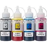 1 Set van 4 inktflessen om Epson T664 Compatibel/Non-Oem voor EcoTank-printers te vervangen