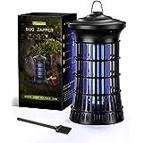 Kasmotion Lámpara Antimosquitos Eléctrico,20W UV LED Mosquito Lámpara Trampa,Aparato Antimosquitos para Insectos,Moscas,Polil