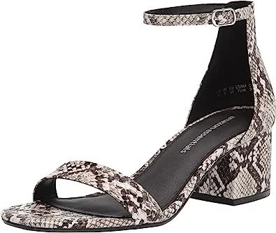 Amazon Essentials - Women's Two Strap Heeled Sandal, Sandalo con tacco Donna