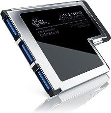 CSL USB 3.0 ExpressCard (54mm/3 Port) | Scheda di interfaccia / Adattatore / Convertitore | 3x Porte USB Tipo A | USB 3.0 Super Speed | fino a 5GBit/s | larghezza installazione 54mm | Compatibile con le versioni precedenti | contatti placcati oro | incl. Driver CD
