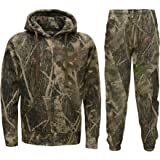 Mens Jungle Camouflage Fishing Hunting Zip Tracksuit Plus Sizes