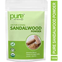 Pure Herbology pure and natural sandalwood powder, best for face mask, skin care, 100gm