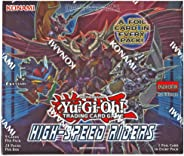 Yugioh High Speed Riders 1st Edition TCG English Booster Box 24 packs of 9 cards, 1 FOIL HOLO CARD PER PACK