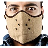 Golden Riders Canvas/Leather Bikers Face Mask.