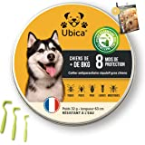 Ubica® Collier Anti Puces pour Chien Naturel Anti Tiques pour Grand Chien (+8kg) – Répulsif – Formule aux Huiles Essentielles