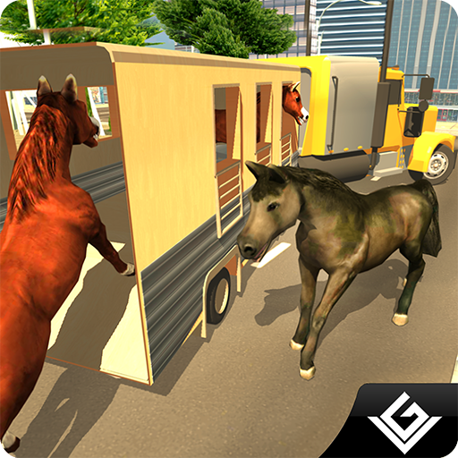 Horse Racing Stunts Adventure Game 3D:  Real Road Animal Transporter Driver Truck Sim Adventure Mission Games Free For Kids 2018