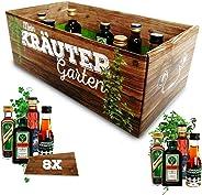 M?nner-Kr?utergarten | witziges Geschenk mit Alkohol | 8x Kr?uter-Lik?r für M?nner und Frauen | J?germeister, Kümmerling u.v.