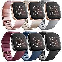 Oumida 6 Pack Kompatibel für Fitbit Versa 2 Armband/Fitbit Versa Armband, Silikon Sport Klassisch Ersatzarmband…