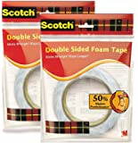 3M Scotch Double Sided Foam Tape 2.4cm x 3m - Pack of 2