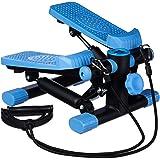 Relaxdays Stepper, verstelbare weerstand, met expander, snelheidsmeter en stappenteller (h x b x d): 170 x 31 x 33 cm, zwart-
