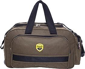 Hard Craft Nylon Khadi Green Waterproof Luggage Travel Bag with Roller Wheels