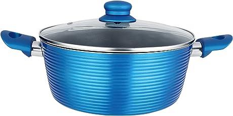 Nirlon Aluminium Cookware Set, 3.75 Litre, Blue