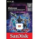 SanDisk Extreme Tarjeta de memoria microSD de 128 GB para juegos en el móvil, con A2 App Performance, gráficos de juegos AAA/