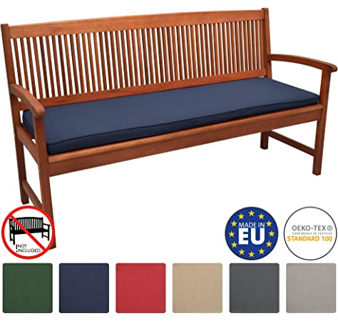 Homescapes Burnt Orange Garden Bench Cushion 3 Seater Seat Pad for Patio Furniture Kitchen or Dining Bench Indoor /& Outdoor Use Comfortable 100/% Cotton Modern Tufted Style Thick Cushion 143cm Wide