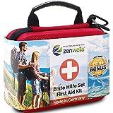 Första hjälpen-kit väska - liten säkerhet nödtillbehör för resor, bil, camping, sport och hem - kompakt och robust medicinsk
