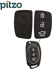 Pitzo Replacement Case 3 Button Remote Body Rubber Keypad for Hyundai