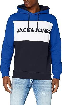 JACK & JONES Men's Jjelogo Blocking Sweat Hood Sts Sweatshirt