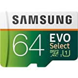 Samsung EVO Select - Tarjeta de Memoria microSD de 64 GB, 100 MB/s, Full HD y 4 K UHD, Incluye Adaptador SD para Smartphone,