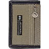 Portafoglio corto per Uomo,OURBAG Portafoglio Bifold Sottilcon Cerniera RFID Tasca Frontale Portafoglio Porta Carte di Credit