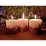 Generic Paraffin Wax Pillar Candle Set, Pack of 3