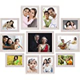 Amazon Brand - Solimo Collage Photo Frames, Set of 11,Wall Hanging (6 pcs - 4x6 inch, 4 pcs - 5x7 inch, 1 pc - 8x10 inch…