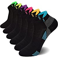 6 Pairs Sports Trainer Socks, Running Walking Socks Sports Ankle Socks Trainer Socks for Ladies
